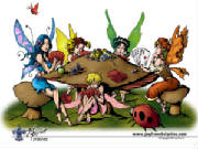 faeries playing poker wallpaper