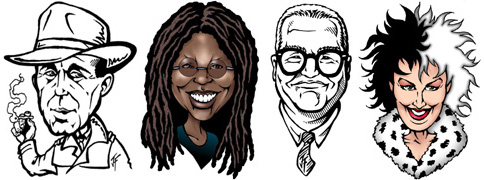 celebrity caricature samples